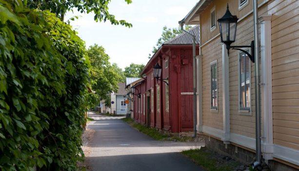 Naantalin vanhaa kaupunkia. Kuva: Naantalin Matkailu Oy, kuvaaja Arto Takala.