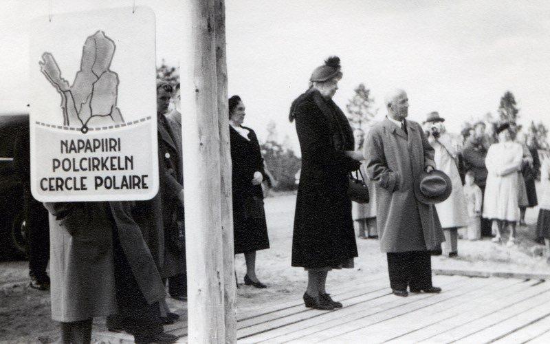 Eleanor Roosevelt ja Uuno Hannula napapiirillä